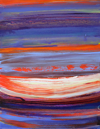 Deanna SIRLIN - Painting - In the Deep (Abstract painting)