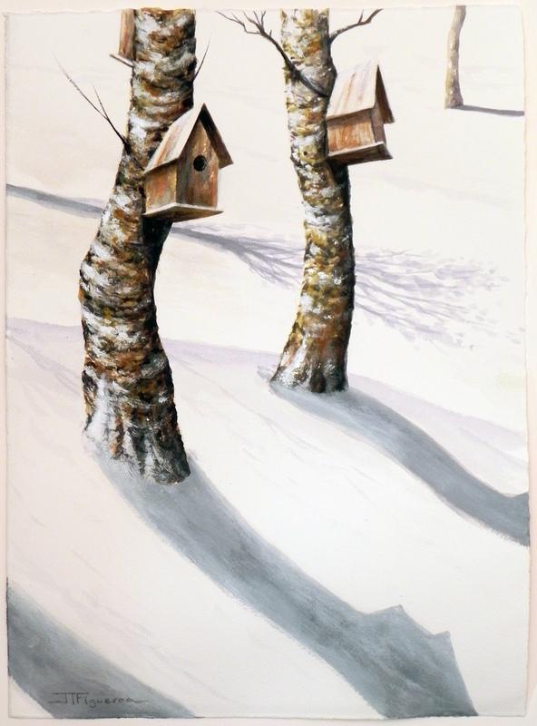 Julio FIGUEROA BELTRAN - Gemälde - Shadows in the Silence