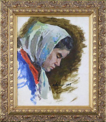 Ivan Nikolaevic ARISTOV - Painting - Girl