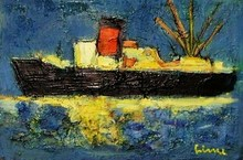 Carl Walter LINER - Painting - Le remorqueur