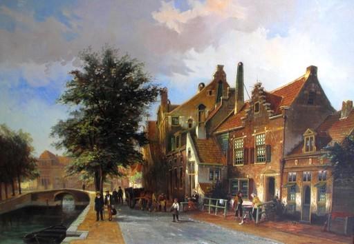 Willem HEIJKOOP - Painting - Enkhuizen