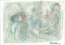 Reine BUD-PRINTEMS - Drawing-Watercolor - Mystérieuse inauguration