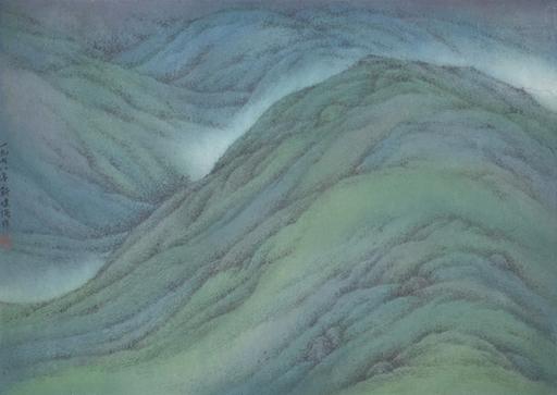 KAN Tai-Keung - Disegno Acquarello - Hill Greenness (Spring Mountain) 1978