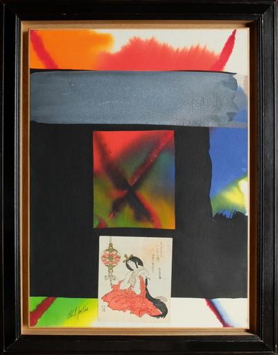 Paul JENKINS - Drawing-Watercolor - Hommage à Hokkei Totoya