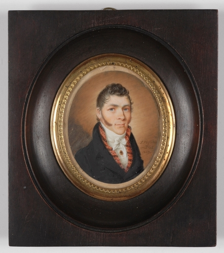 "Salomon HOFLING - Miniature - ""Portrait of a Gentleman"", 1813, Miniature"