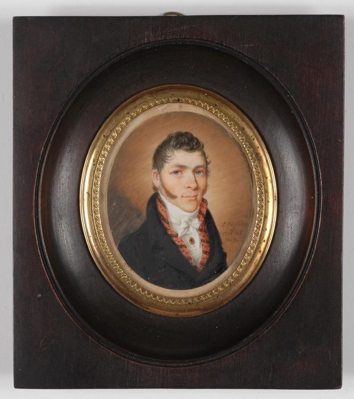 "Salomon HOFLING - Miniature - ""Portrait of a Gentleman"", 1813, Miniature"