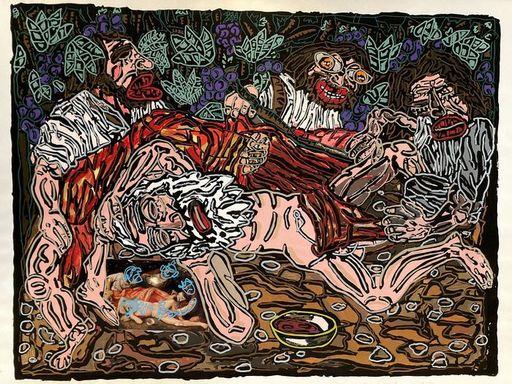贡巴斯 - 版画 - L'ivresse de Noé