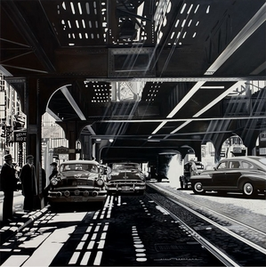 Alain BERTRAND - Painting - Under the railway