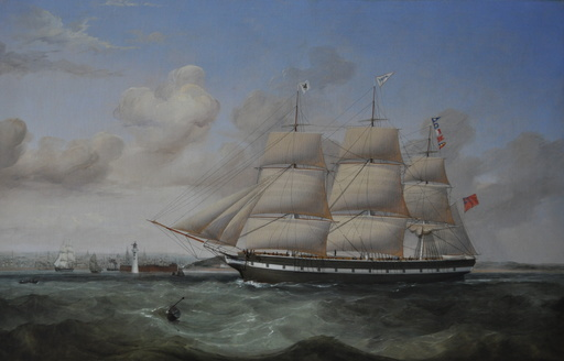 William Kimmins MACMINN - Pintura - The Full-Rigged Merchantman Ebba Brahe inbound for Liverpool