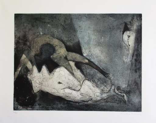 Dorothea TANNING - 版画 - Nue couchée