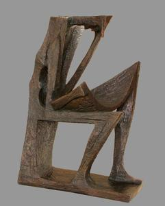 Josep María SUBIRACHS SITJAR - Escultura - Hombre sentado - Man sitting