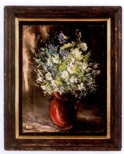 Maurice DE VLAMINCK - Painting - bouquet de dahlias