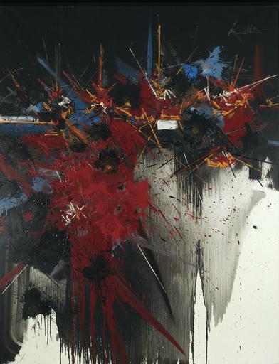 Georges MATHIEU - Gemälde - Le beau semblant