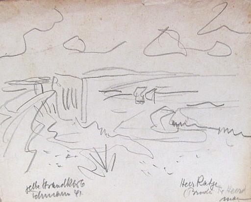 Erich HARTMANN - Disegno Acquarello - Fehmarn.