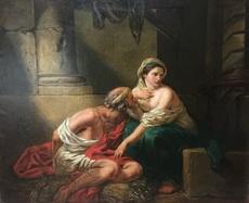 "Gustave BOULANGER - Painting - ""Caritas Romana - The Roman Charity Cimon and Péro"""