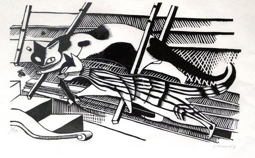 Gerhard MARCKS - Print-Multiple - Die Katzen