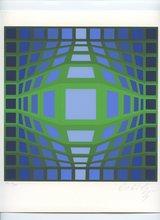 Victor VASARELY (1906-1997) - SÉRIGRAPHIE SIGNÉE AU CRAYON NUM/XXV HANDSIGNED SILKSCREEN