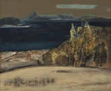 Manabu MABE - Painting - Work (view along the sea)