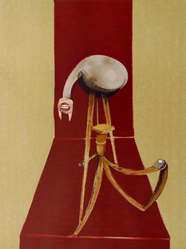 Francis BACON - Grabado - Central Panel, from: Second Version of the Triptych 1944