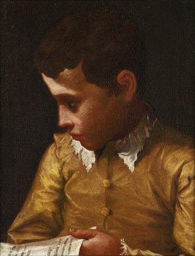 Donato CRETI IL DONATINO - Gemälde - Boy holding a letter