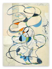 Tracey ADAMS - Peinture - Music is a Means of Rapid Transportation