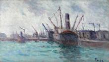 Maximilien LUCE (1858-1941) - Rouen, Cargos dans le port