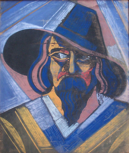 Hugo SCHEIBER - Painting - Man with a Hat