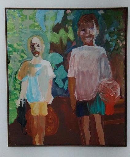Emo VERKERK - Painting - Portret van Anna en Thomas Offermans