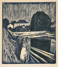 Edvard MUNCH - Print-Multiple - The Girls on the Bridge