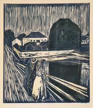 Edvard MUNCH (1863-1944) - The Girls on the Bridge