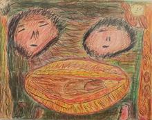 Jacqueline B. - Drawing-Watercolor - Nativité