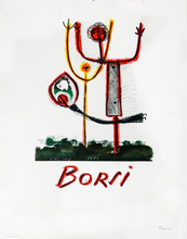 Manfredo BORSI - Estampe-Multiple - Couple à l'enfant