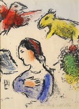 Marc CHAGALL - Dessin-Aquarelle - Woman and Animals