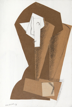 亨利· 劳伦斯 - 水彩作品 - Tête de femme