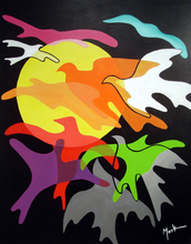 Brigitte THONHAUSER-MERK - Pintura - Les Oiseaux de Nuit