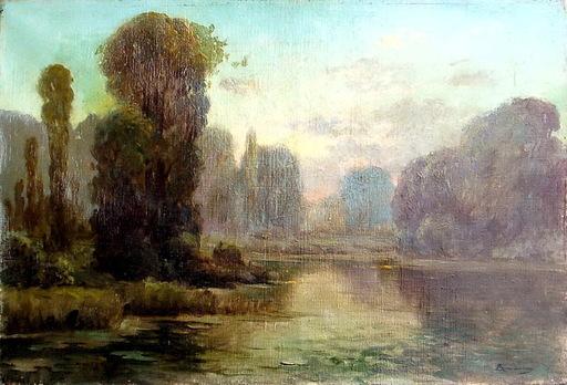 Serafín DE AVENDAÑO - Pintura - paisaje rió