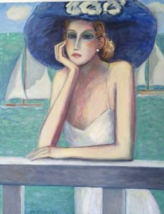 "Jean-Pierre CASSIGNEUL (1935) - "" La capeline bleue"""