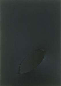 Turi SIMETI - Peinture - Un ovale nero