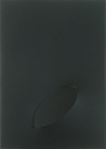 Turi SIMETI - Painting - Un ovale nero.