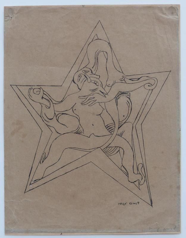 """马克思•恩斯特 - 版画 - zu """"Freie Kunst und Literatur"""""""
