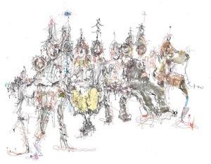 Michael ALAN - Drawing-Watercolor - Building NYC