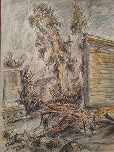 Fernand LAVAL - 水彩作品 - Le Pont carré au Loup