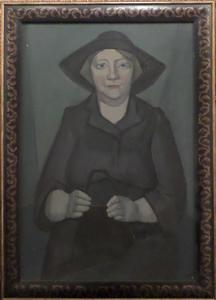 Hubertus Johannes MENGELS - Peinture - Elderly Woman