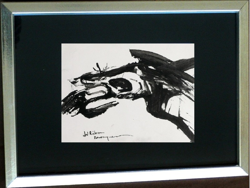Juan RIBERA BERENGUER - Peinture - Black abstraction