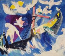 "Bernard LORJOU - Tapestry -  ""Bateau Ivre"