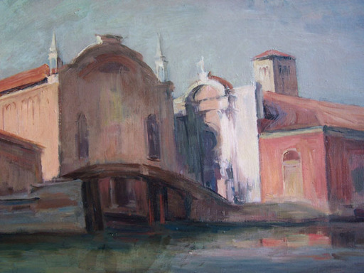 Adolphe MILICH - Painting - Misericordia, Venice