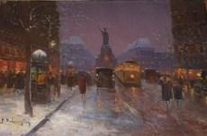Paul Justin Marcel BALMIGERE - Painting - Place de la Liberte