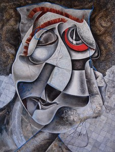 Sophie BOKSER - Peinture - The sad man