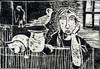 Jacob GILDOR - Print-Multiple - Woman StillLife and Birds