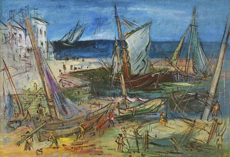 Jean DUFY - Painting - Port de pêche